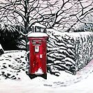 The Red Post Box  by © Linda Callaghan