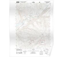 USGS Topo Map Oregon Cascade Gorge 20110715 TM Poster