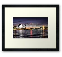 Sydney Icons at Sunset Framed Print