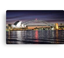 Sydney Icons at Sunset Canvas Print