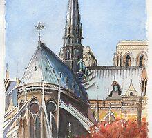 Notre Dame, Paris by Dai Wynn