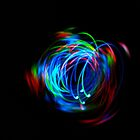 Rainbow Light Painting by Haunted by Humans