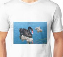 Swan with 5 cygnets Unisex T-Shirt