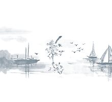 Sumi-e inspired (02) by liajung
