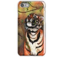 Baby tiger is playing iPhone Case/Skin