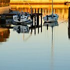 boats on a millpond by SUBI