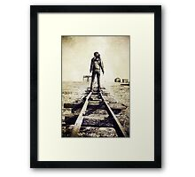 Lonesome Track Framed Print
