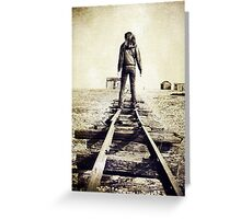 Lonesome Track Greeting Card