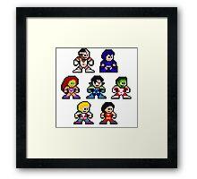 8-bit New Teen Titans Framed Print