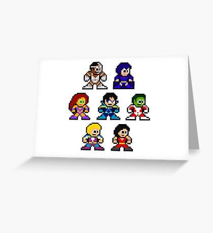 8-bit New Teen Titans Greeting Card