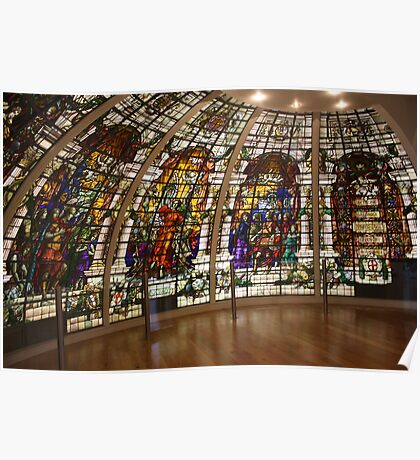 Stained Glass Windows Poster