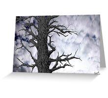 Dark Tree [Pen and Digital Illustration] Greeting Card
