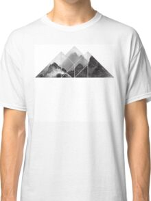 black and white mountain, mountain  Classic T-Shirt