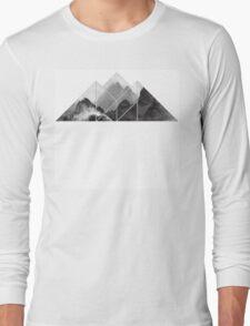 black and white mountain, mountain  Long Sleeve T-Shirt
