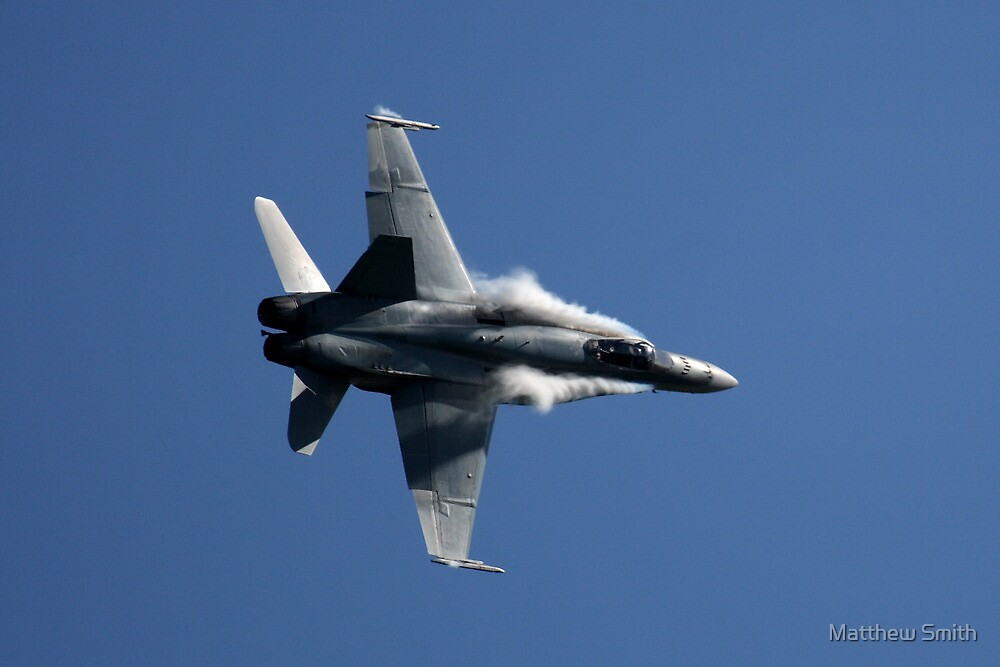 RAAF F/A 18 Hornet High G Turn by Matthew Smith