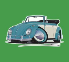 Volkswagen Beetle Cabriolet (2-Tone) Turquoise Kids Clothes