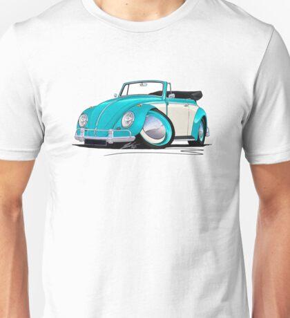 Volkswagen Beetle Cabriolet (2-Tone) Turquoise Unisex T-Shirt