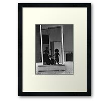 Blackwhite series : Trailer Park America ( this is our home) Framed Print