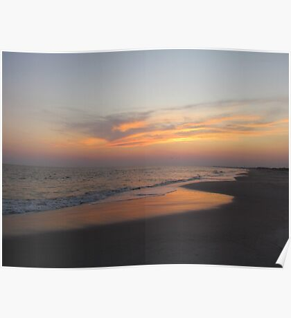 Beautiful Sky On The Beach Poster