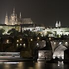 Prague at night - Charles Bridge  by Artanis