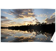Reflections * Thomson River, Longreach Poster