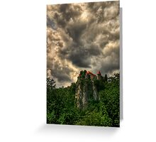 The Castle in town Bled, Slovenia Greeting Card