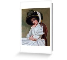 Emma Hamilton after George Romney Greeting Card