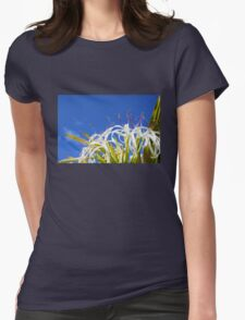 Hymenocallis flower - Wallygroom Spider Flower Womens Fitted T-Shirt