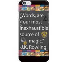 J.K Rowling Quote  iPhone Case/Skin