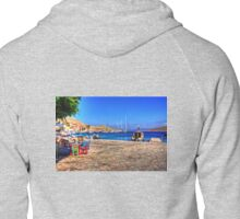 Coloured Tables and Chairs Zipped Hoodie