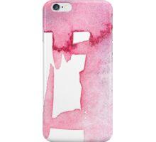baby pink brushstrokes iPhone Case/Skin