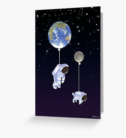 Spaceboy Greeting Card