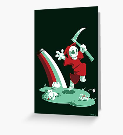 The Joy of Death Greeting Card