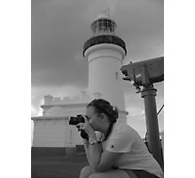 lighthouse of grey Photographic Print