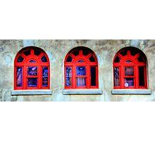 Windows - Stockyards , Fort Worth , Texas Photographic Print