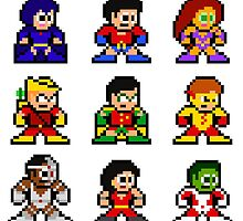 8-bit Classic Teen Titans by 8 Bit Hero