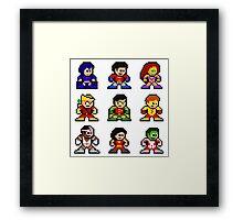 8-bit Classic Teen Titans Framed Print