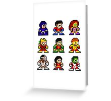 8-bit Classic Teen Titans Greeting Card