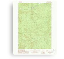 USGS Topo Map Oregon Red Butte 281238 1989 24000 Canvas Print