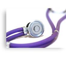 Purple color stethoscope equipment  Canvas Print