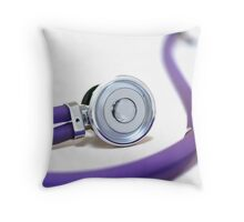Purple color stethoscope equipment  Throw Pillow