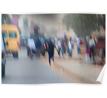 Street abstract photo Poster