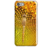 Dragonfly On Sunflower iPhone Case/Skin