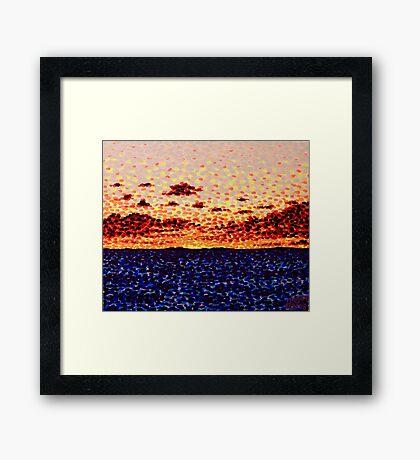 'Sunset at Sea'   Framed Print