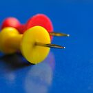 Yellow And Red Push Pins by snehit