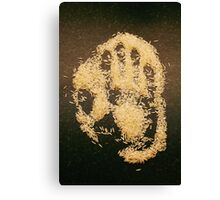A handful of rice Canvas Print