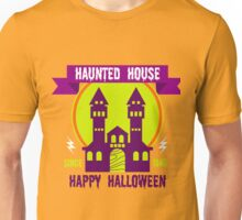 Haunted house Happy Halloween Unisex T-Shirt