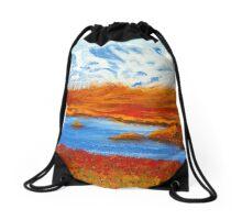 Lochside, Scotland Drawstring Bag