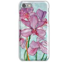 Orchid Flower in Watercolor iPhone Case/Skin