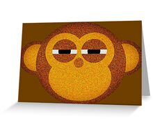 Highly suspicious monkey Greeting Card
